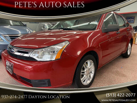 2010 Ford Focus for sale at PETE'S AUTO SALES - Dayton in Dayton OH