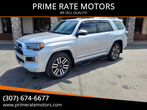 2018 Toyota 4Runner for sale at PRIME RATE MOTORS in Sheridan WY