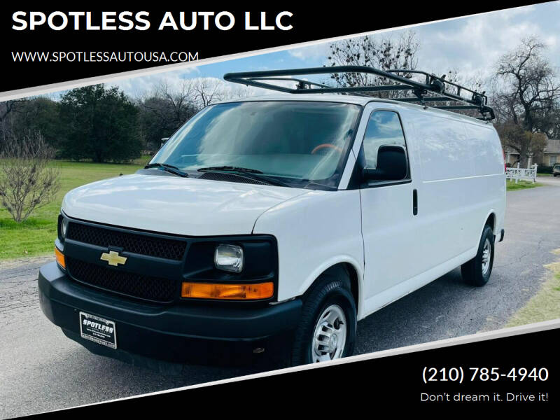 2015 Chevrolet Express Cargo for sale at SPOTLESS AUTO LLC in San Antonio TX