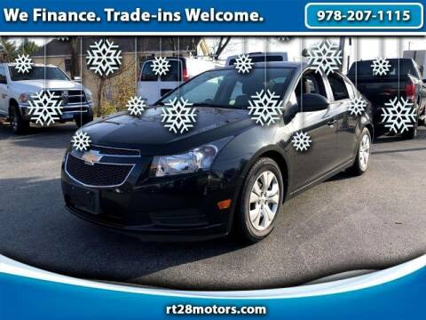 2013 Chevrolet Cruze for sale at RT28 Motors in North Reading MA
