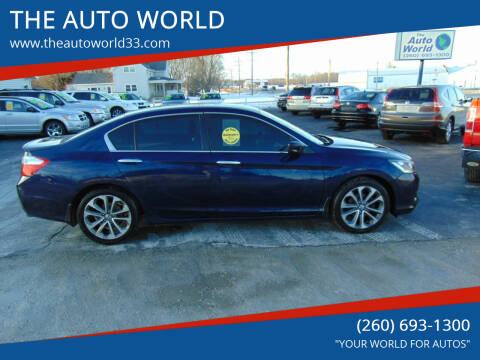 2015 Honda Accord for sale at THE AUTO WORLD in Churubusco IN
