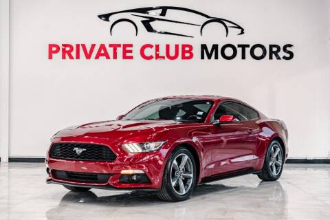 2015 Ford Mustang for sale at Private Club Motors in Houston TX