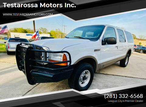 2000 Ford Excursion for sale at Testarossa Motors Inc. in League City TX
