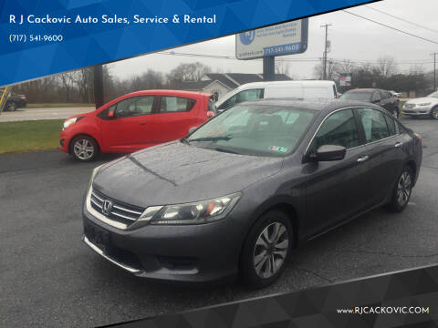 2013 Honda Accord for sale at R J Cackovic Auto Sales, Service & Rental in Harrisburg PA