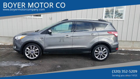 2014 Ford Escape for sale at BOYER MOTOR CO in Sauk Centre MN