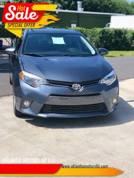 2015 Toyota Corolla for sale at ATLANTIC MOTORS GP LLC in Houston TX