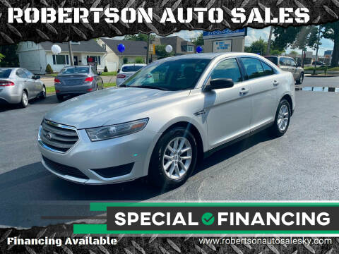 2013 Ford Taurus for sale at ROBERTSON AUTO SALES in Bowling Green KY