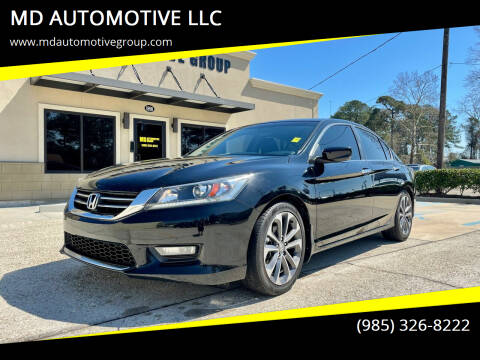 2015 Honda Accord for sale at MD AUTOMOTIVE LLC in Slidell LA