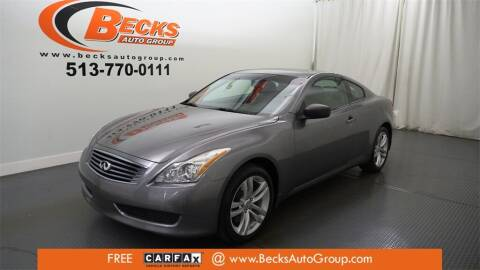2010 Infiniti G37 Coupe for sale at Becks Auto Group in Mason OH