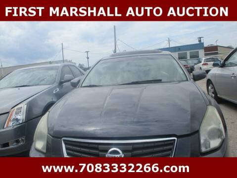 2008 Nissan Maxima for sale at First Marshall Auto Auction in Harvey IL