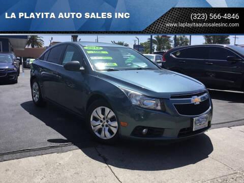2012 Chevrolet Cruze for sale at LA PLAYITA AUTO SALES INC in South Gate CA