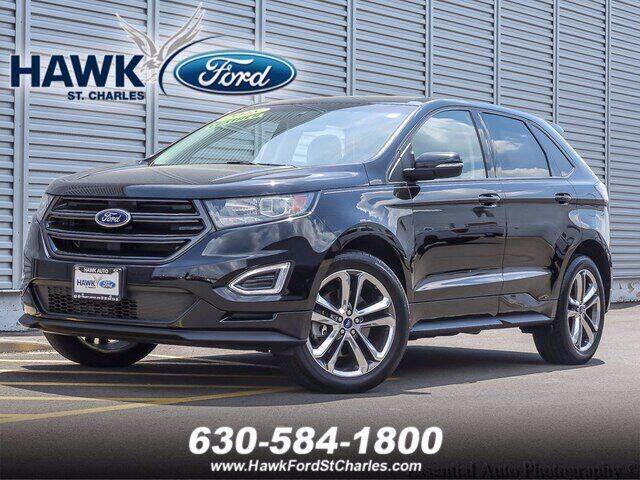 2018 Ford Edge for sale at Hawk Ford of St. Charles in Saint Charles IL