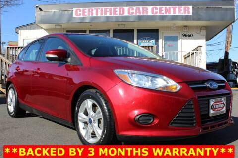 2014 Ford Focus for sale at CERTIFIED CAR CENTER in Fairfax VA