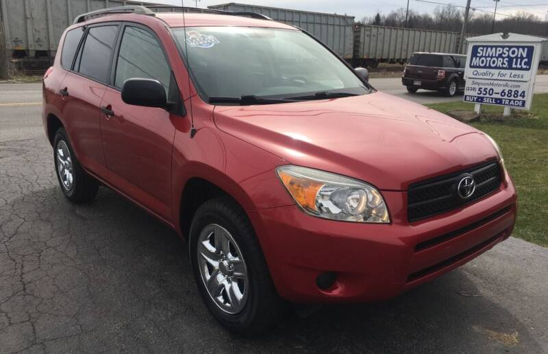 2006 Toyota RAV4 for sale at SIMPSON MOTORS in Youngstown OH