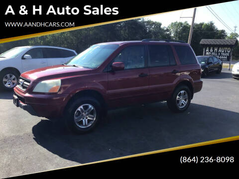2004 Honda Pilot for sale at A & H Auto Sales in Greenville SC