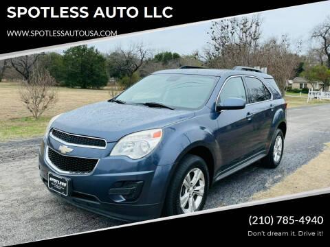 2013 Chevrolet Equinox for sale at SPOTLESS AUTO LLC in San Antonio TX