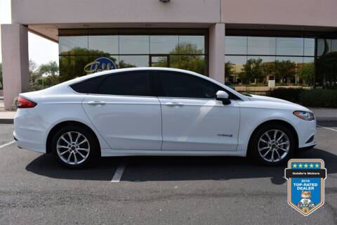 2017 Ford Fusion Hybrid for sale at GOLDIES MOTORS in Phoenix AZ