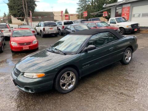 2000 Chrysler Sebring for sale at C&D Auto Sales Center in Kent WA