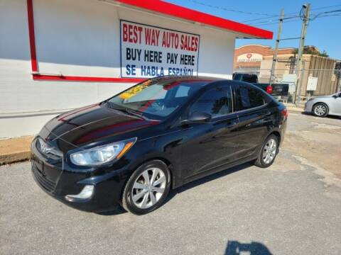 2013 Hyundai Accent for sale at Best Way Auto Sales II in Houston TX