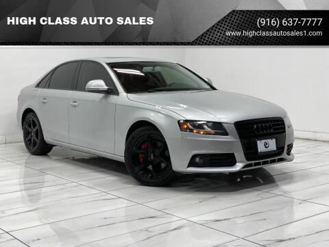 2009 Audi A4 for sale at HIGH CLASS AUTO SALES in Rancho Cordova CA