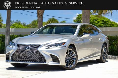 2018 Lexus LS 500 for sale at Presidential Auto  Sales & Service in Delray Beach FL