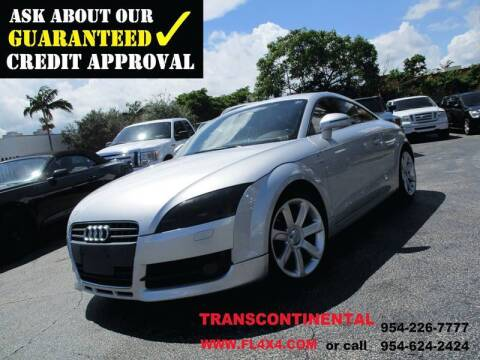 2008 Audi TT for sale at Transcontinental Car USA Corp in Fort Lauderdale FL