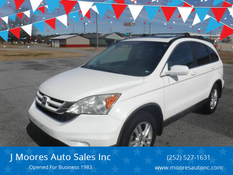 2010 Honda CR-V for sale at J Moores Auto Sales Inc in Kinston NC