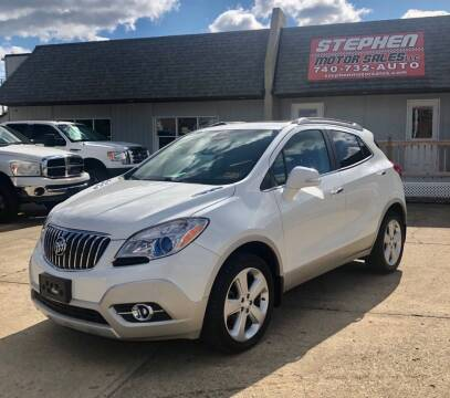 2015 Buick Encore for sale at Stephen Motor Sales LLC in Caldwell OH