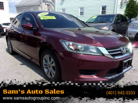 2014 Honda Accord for sale at Sam's Auto Sales in Cranston RI