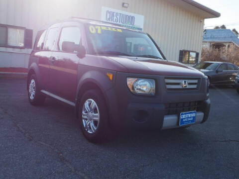 2007 Honda Element for sale at Crestwood Auto Sales in Swansea MA