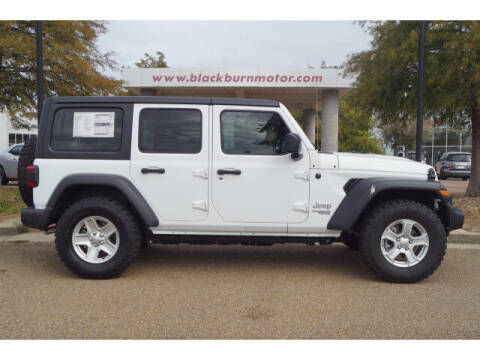 2020 Jeep Wrangler Unlimited for sale at BLACKBURN MOTOR CO in Vicksburg MS
