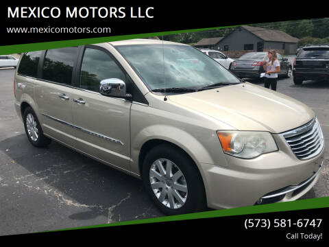 2012 Chrysler Town and Country for sale at MEXICO MOTORS LLC in Mexico MO