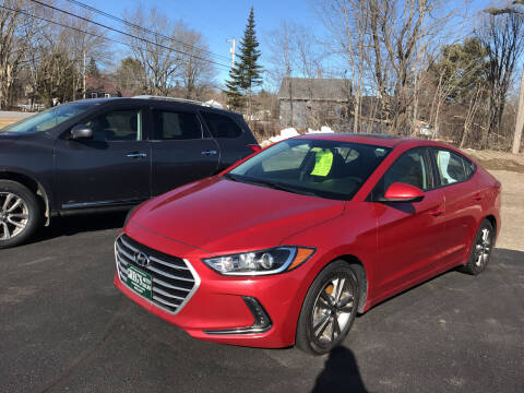 2017 Hyundai Elantra for sale at Greg's Auto Sales in Searsport ME