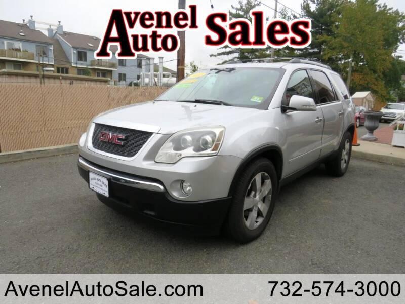 2012 GMC Acadia for sale at Avenel Auto Sales in Avenel NJ