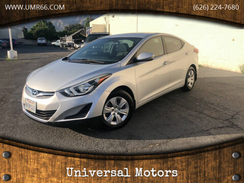 2016 Hyundai Elantra for sale at Universal Motors in Glendora CA