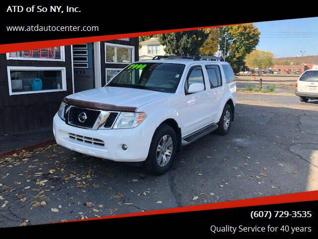 2010 Nissan Pathfinder for sale at ATD of So NY, Inc. in Johnson City NY