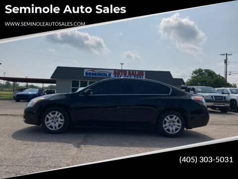 2011 Nissan Altima for sale at Seminole Auto Sales in Seminole OK