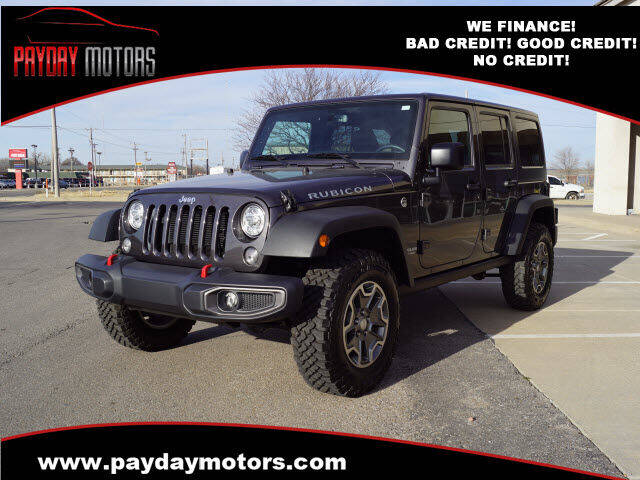2017 Jeep Wrangler Unlimited for sale at Payday Motors in Wichita KS