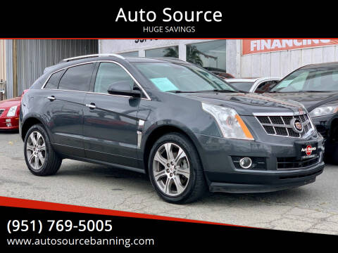2012 Cadillac SRX for sale at Auto Source in Banning CA