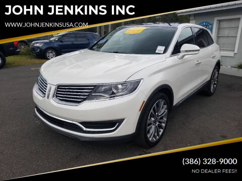 2017 Lincoln MKX for sale at JOHN JENKINS INC in Palatka FL
