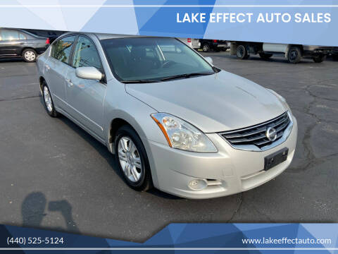 2012 Nissan Altima for sale at Lake Effect Auto Sales in Chardon OH