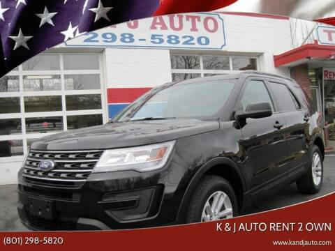 2017 Ford Explorer for sale at K & J Auto Rent 2 Own in Bountiful UT