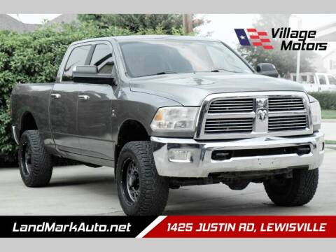 2012 RAM Ram Pickup 2500 for sale at Village Motors in Lewisville TX
