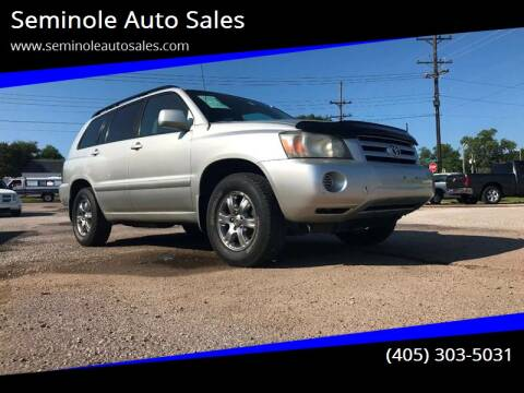 2004 Toyota Highlander for sale at Seminole Auto Sales in Seminole OK
