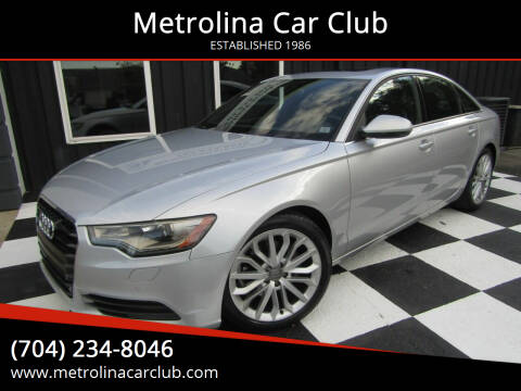 2013 Audi A6 for sale at Metrolina Car Club in Matthews NC