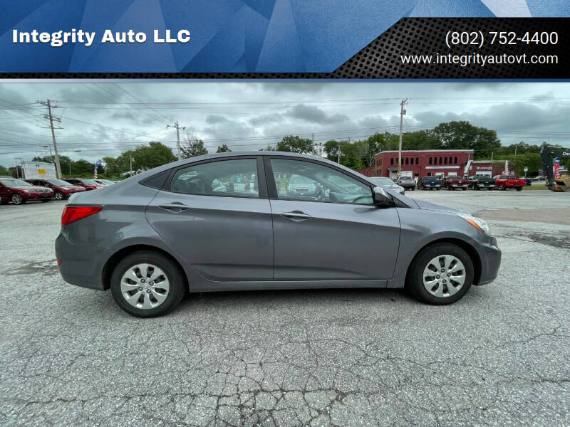 2016 Hyundai Accent for sale at Integrity Auto 2.0 in Saint Albans VT