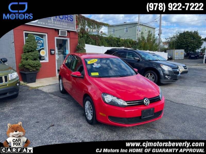 2012 Volkswagen Golf for sale at CJ Motors Inc. in Beverly MA