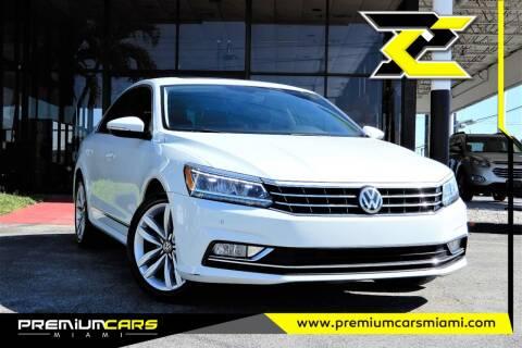 2017 Volkswagen Passat for sale at Premium Cars of Miami in Miami FL