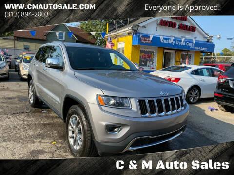 2015 Jeep Grand Cherokee for sale at C & M Auto Sales in Detroit MI