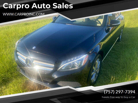 2015 Mercedes-Benz C-Class for sale at Carpro Auto Sales in Chesapeake VA